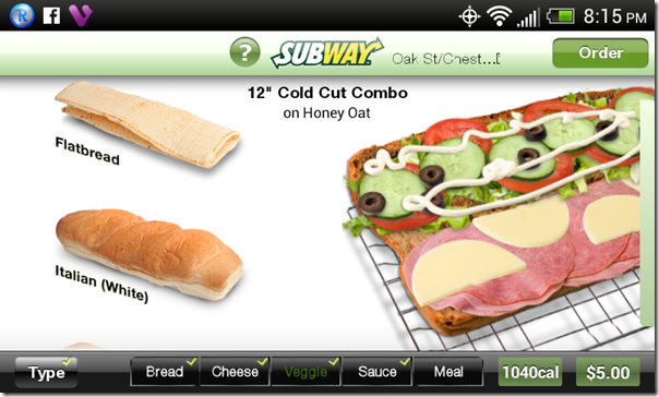 12 inch cold cut combo