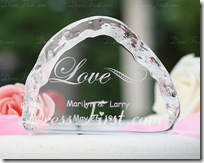 Personalized Love Design Crystal Items Cake Topper