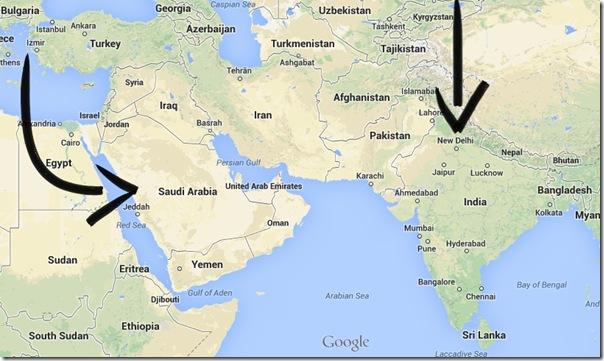 saudi arabia and india