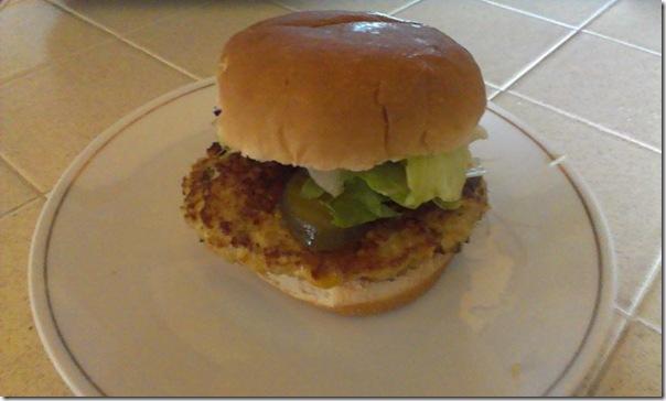 quinoa and tofu burger