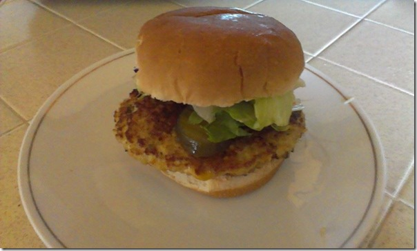 quinoa and tofu burger