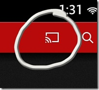 Chromecast Icon Circled