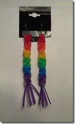 rainbow dna earring hypoallergenic