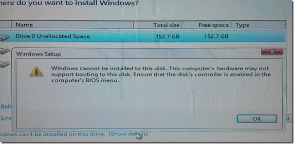 windows 8 install problems