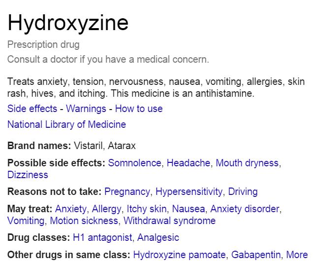 Hydroxyzine – Xanapus` Lair