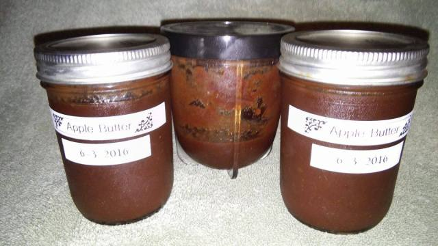 apple butter jars