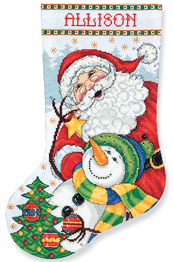 Trim the Tree Stocking Counted Cross Stitch Kit